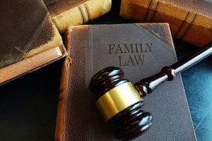 A Family Law Book and a Gavel